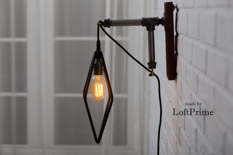 Applique murale retro salle de bain lampe orange vintage lampe de