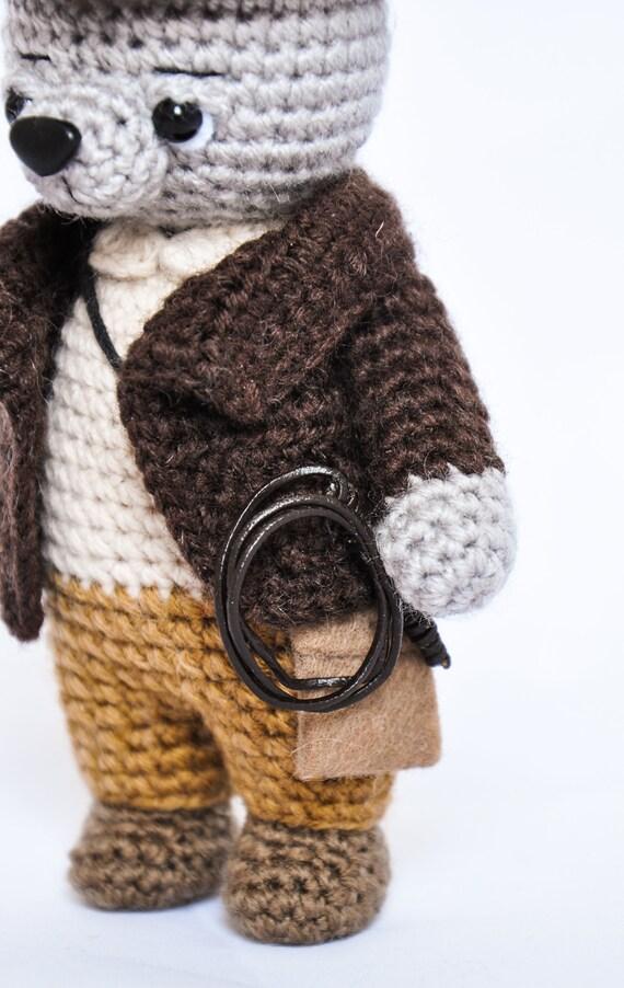 Indiana Jones Archäologe Gestrickte Bär Häkeln Spielzeug Bär Etsy