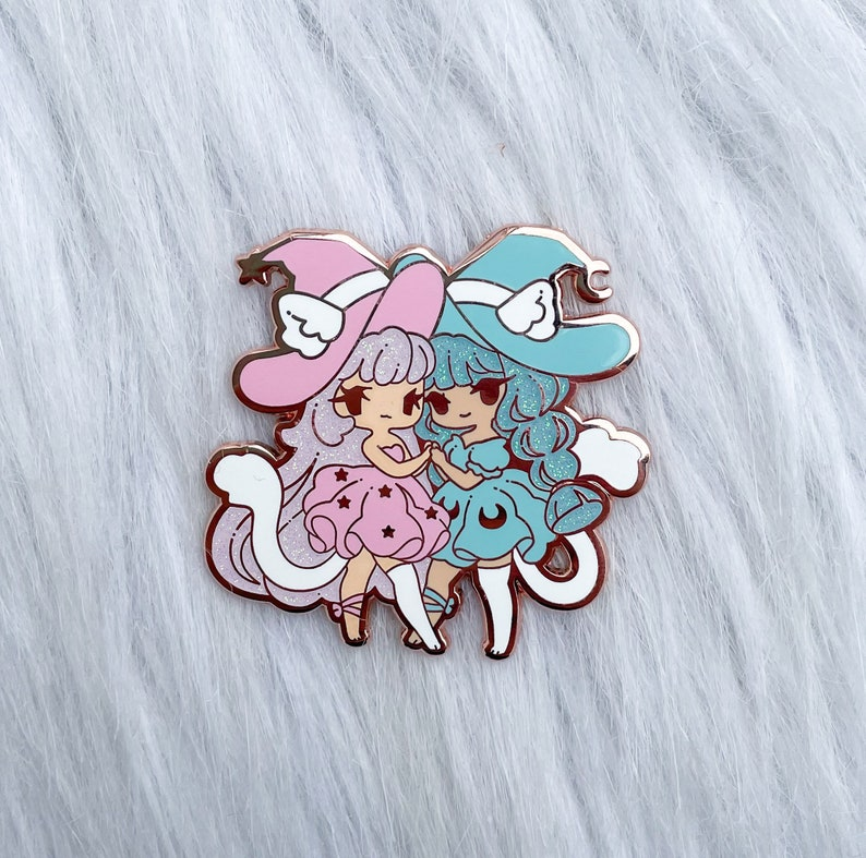 HallowQueen Cotton Candy Variant Hard Enamel Pin image 0