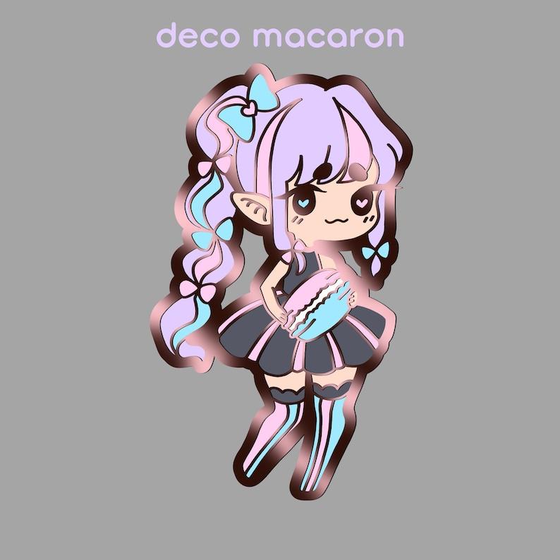 PRE-ORDER SALE: Deco Macaron Hard Enamel Pin image 0