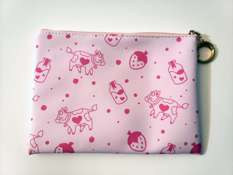 Strawberry Milk Cow Pouch image 0