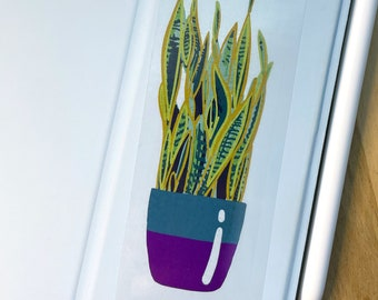 Plant Lover Snake Plant Clear Sticker