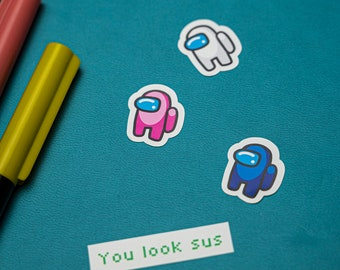 Among Us Fun Fan Art Sticker Sheet