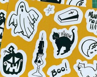 Spooky Mixed Halloween 4 x 6 sticker sheets