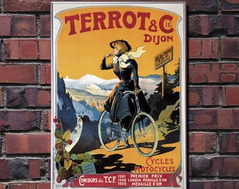 Vintage Bicycle Poster Terrot & Cie - Digital HQ Print - 4 Sizes