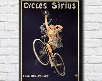 Sirius Vintage Bicycle Poster - Digital HQ Print - 4 Sizes
