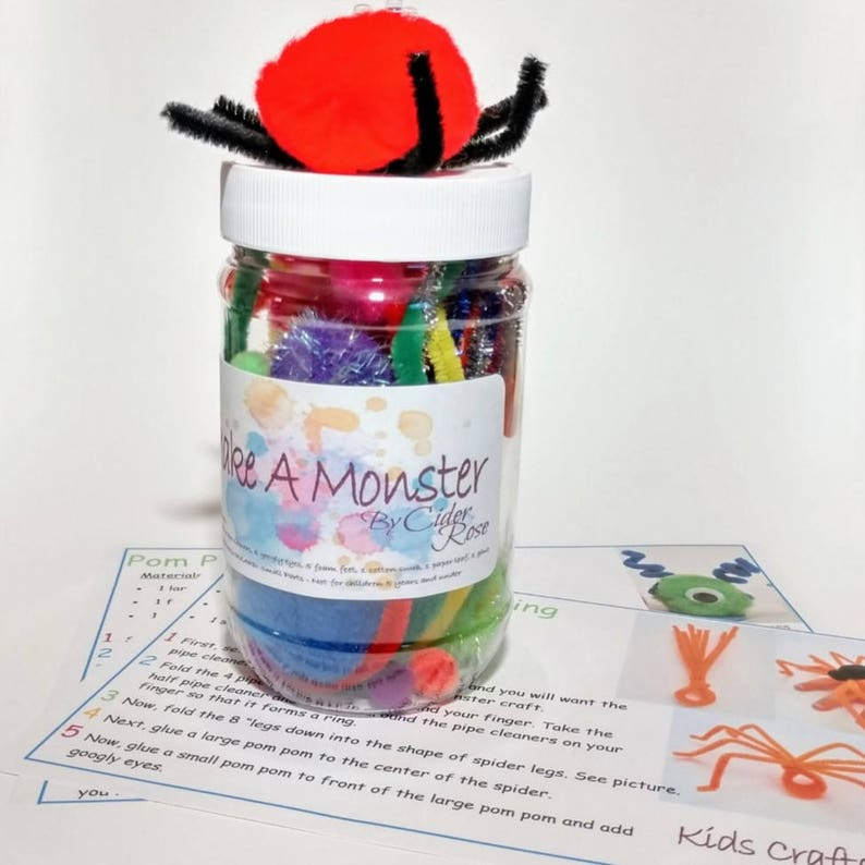 568720630addb Make A Cute Monster Craft - Homemade Crafts