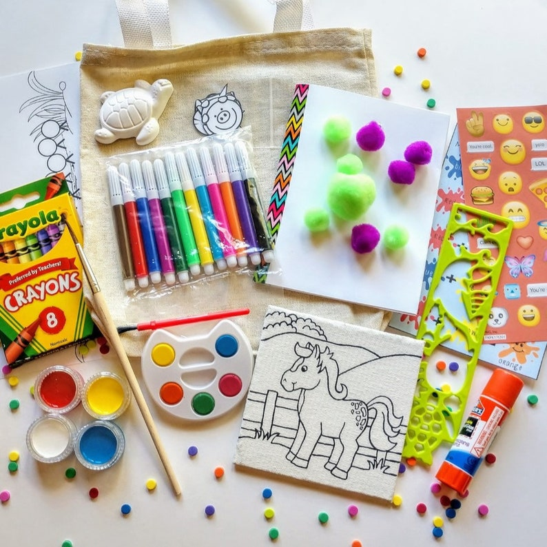 Deluxe Busy Bag Homemade Crafts Kids Craft Kits Etsy