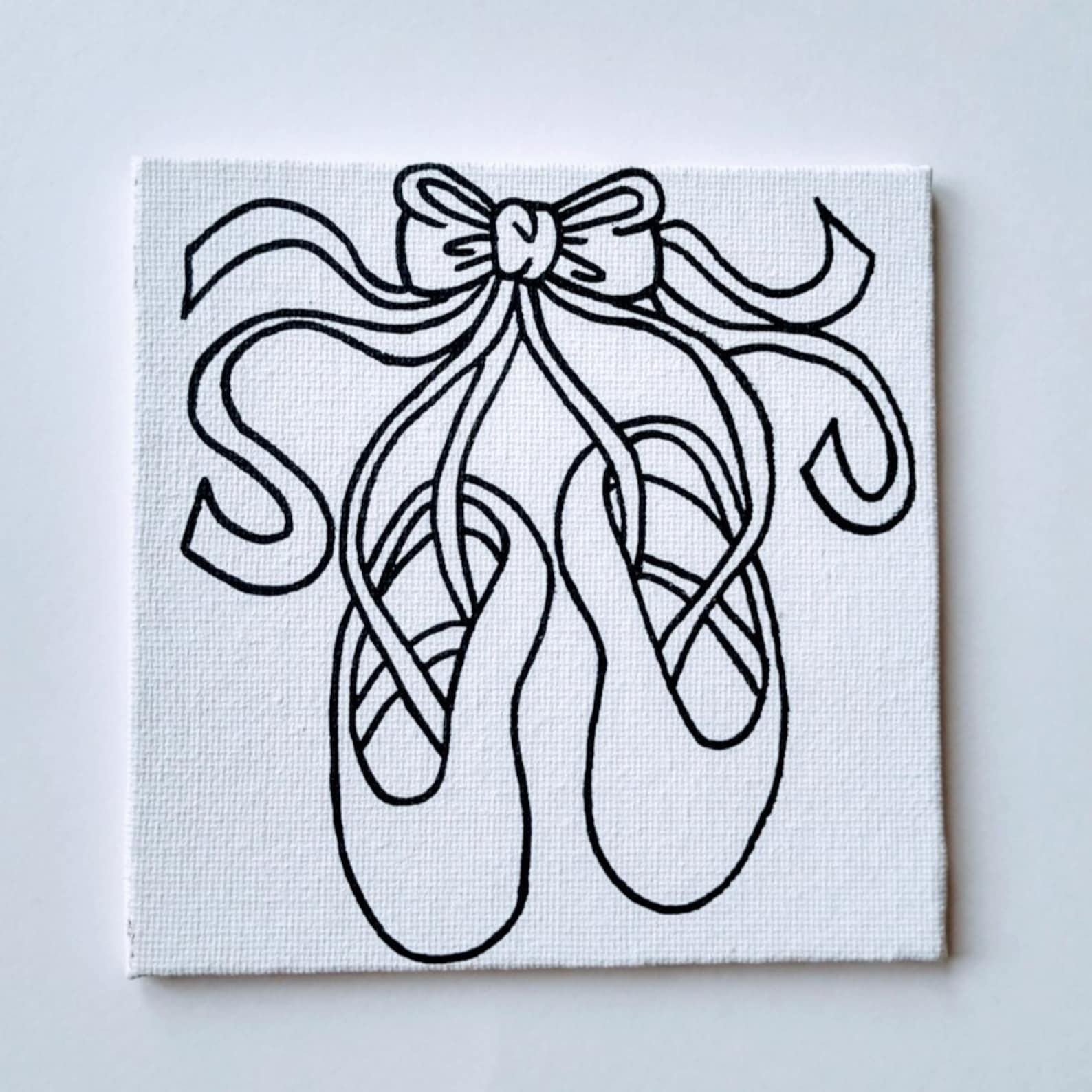 paint your own ballet shoes - dance recital gift - art party - kids party favors
