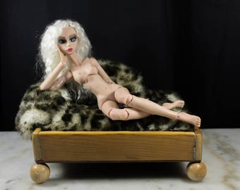 Doll fourniture, Sofa for bjd doll, OOAK fourniture