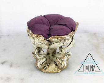 Doll fourniture, stool for bjd doll, OOAK fourniture