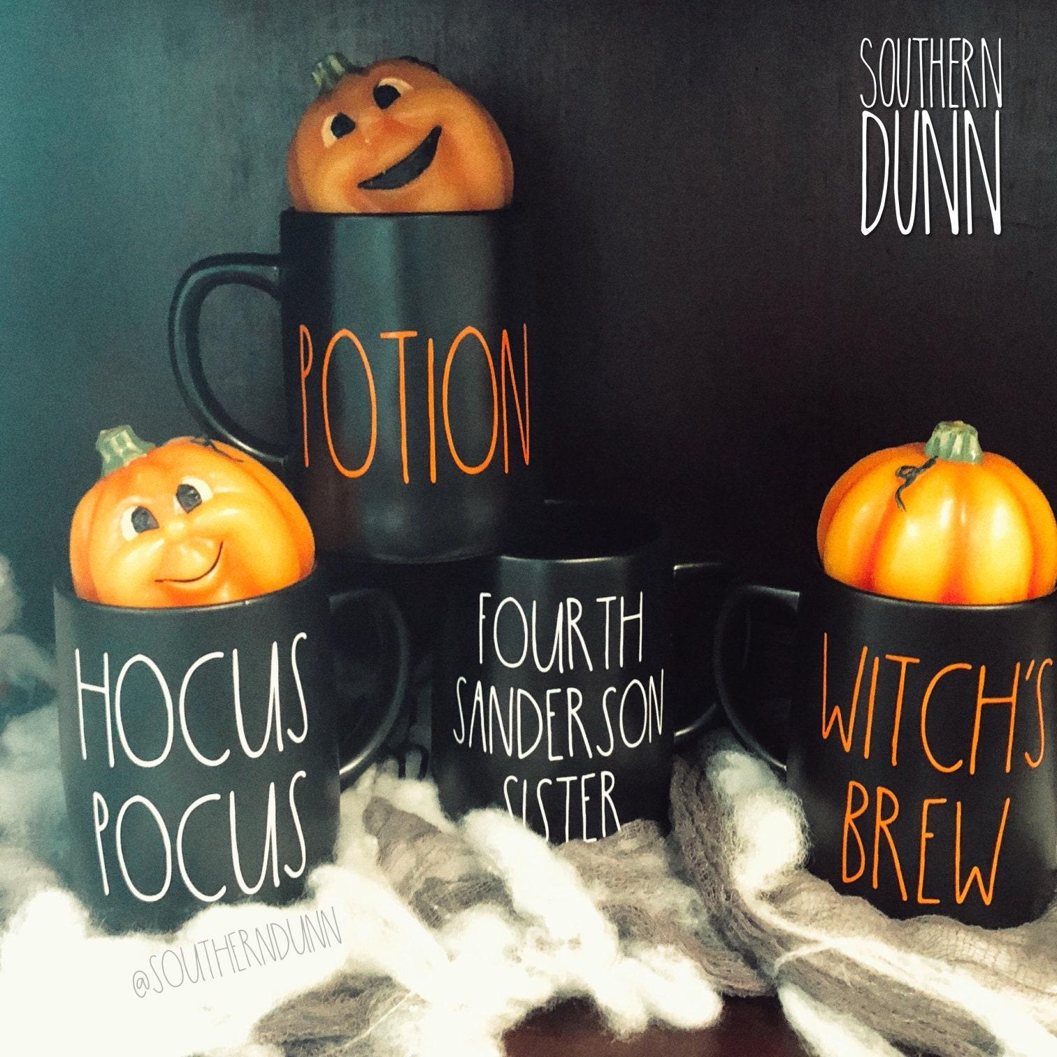 rae dunn inspired halloween vinyl mug decals, rae dunn halloween