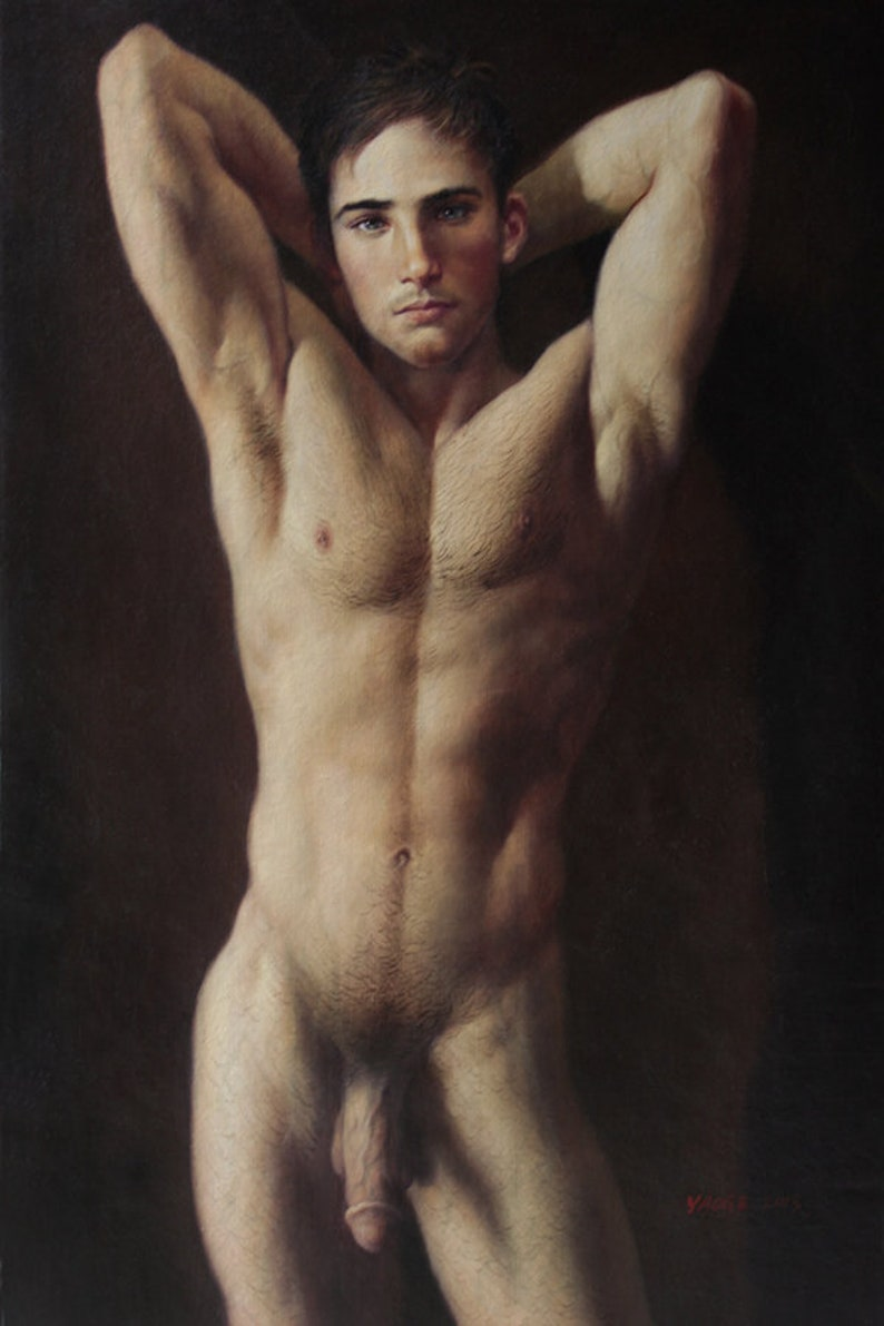 Abstract Nude Male Front By Poonam Southey
