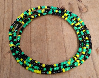 African Waist Beads - Waist Beads - African jewelry - Belly Chain - Body Jewelry - Belly Beads - Jamaica
