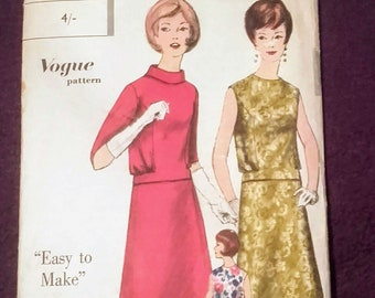 933f65f227 Vintage 1960's Dress, blouse & skirt pattern by Vogue patterns, number  5381. Uncut - Bust 32