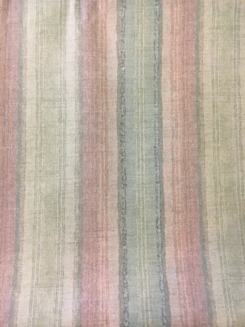 pink and beige Table Runner Handmade Spring Gifts Stripes in light blue Summer Fall table linen Housewarming