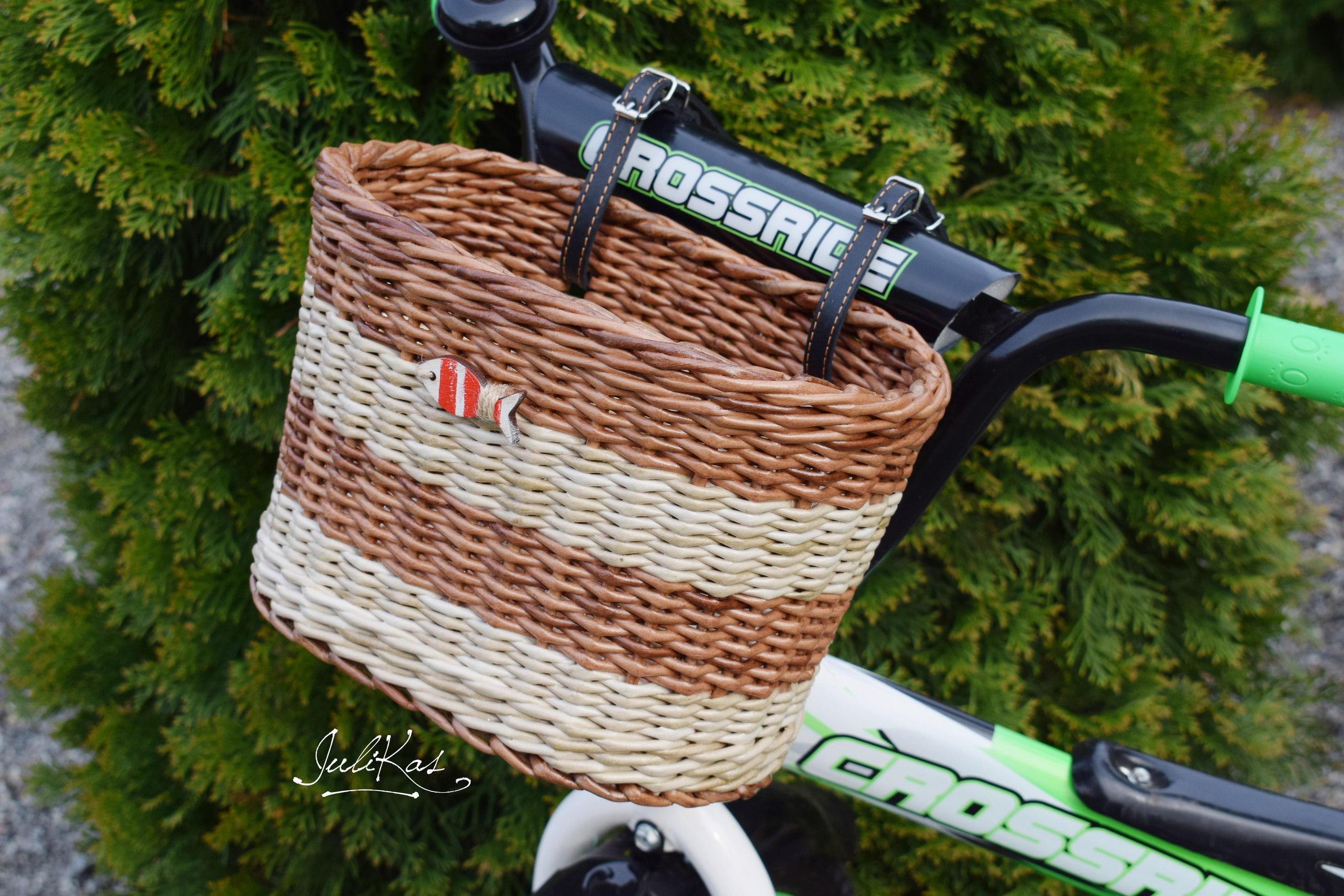 Fahrrad Korb Kinder Roter Fisch Fahrrad Korb braun