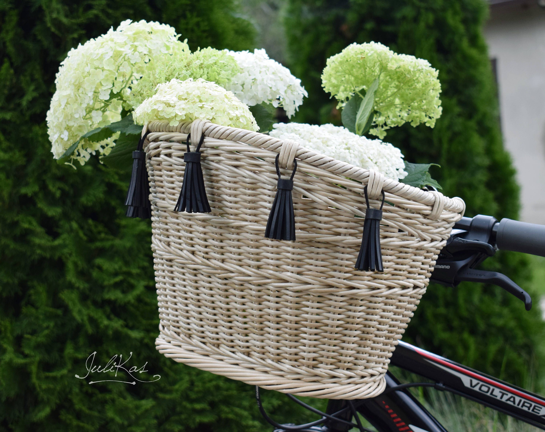 Fahrrad Korb Elfenbein Fahrradkorb mit Quasten Fahrrad Zubehör