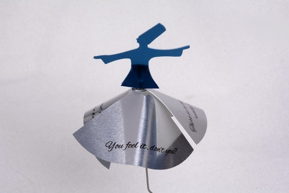 Whirling Dervish Candle Holder With Rumi Sufi Love Quotes Etsy