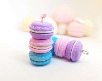 Pastel macarons pendant