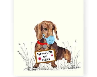 SKL Home Dachshund Be Pawsitive Positive Cotton Hand Towel New