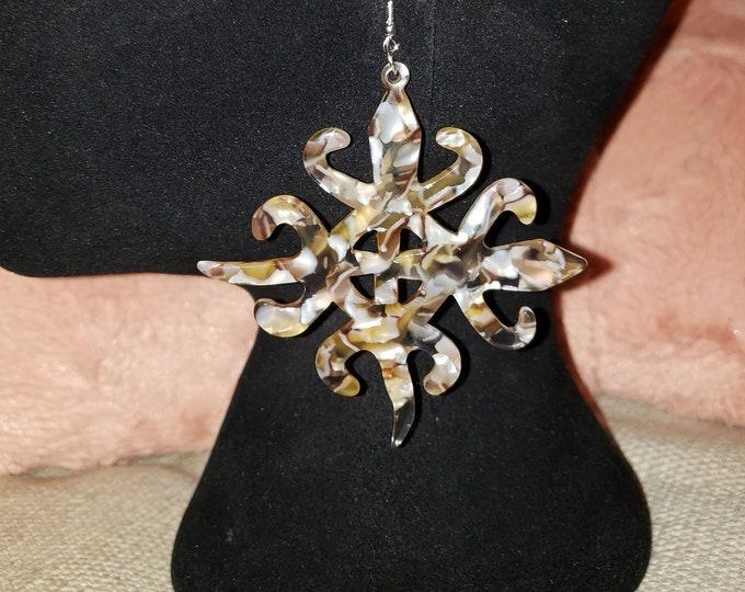 New Items !  Joyfulheads Earrings, Large Earrings, Afrocentric Earrings, Adinkra symbols, Fashion Earrings