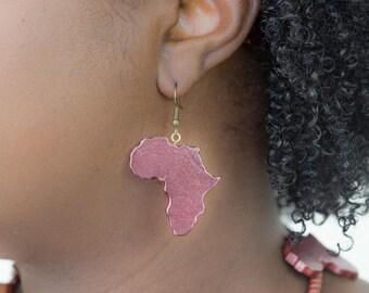 Joyfulheads Africa earrings, African shaped earrings, Ethnic earring