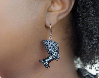 SALE ! Joyfulheads   Nefertiti Earrings Slight Imperfection