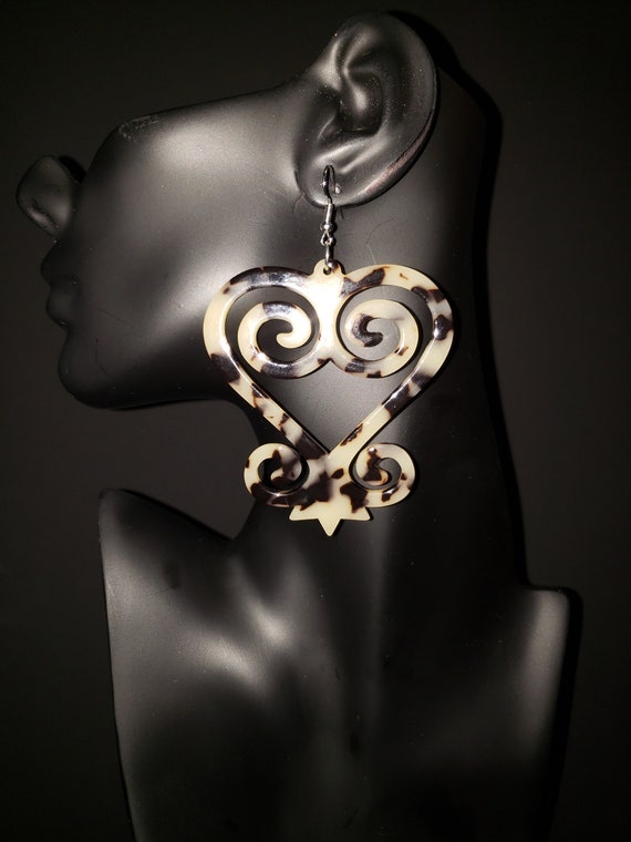 "Joyfulheads  Adinkra Fierce Collection ""SANKOFA"" Cream and Black"