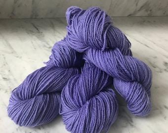"Worsted 3 ply wool yarn Roberta Rae Michigan ""Winter Violet"""