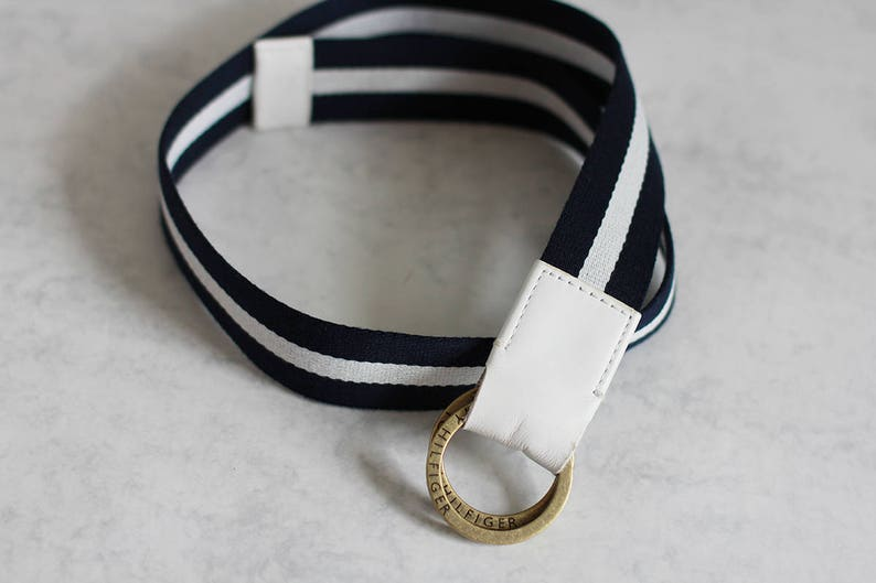 b772381019bb TOMMY HILFIGER vintage belt in blue and white color for women