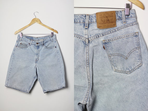 LEVI'S 550 shorts, Light blue denim bermuda shorts