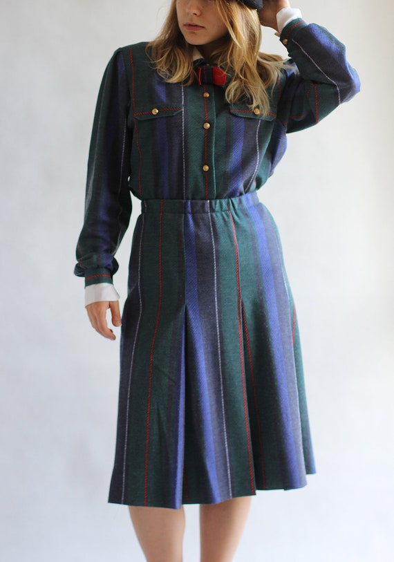 French suit jacket and midi skirt, Tulip skirt sui