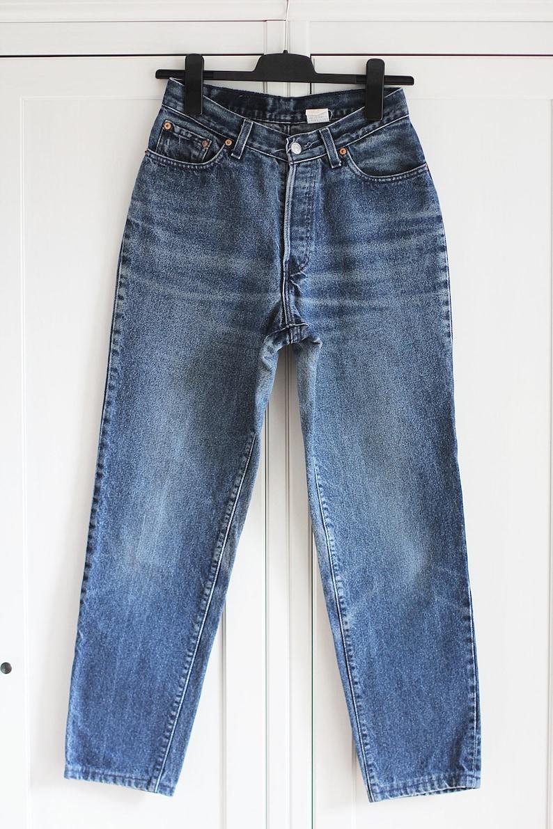 Vintage dark wash denim made in USA W27-28 90s Levi/'s 17501 jeans 501
