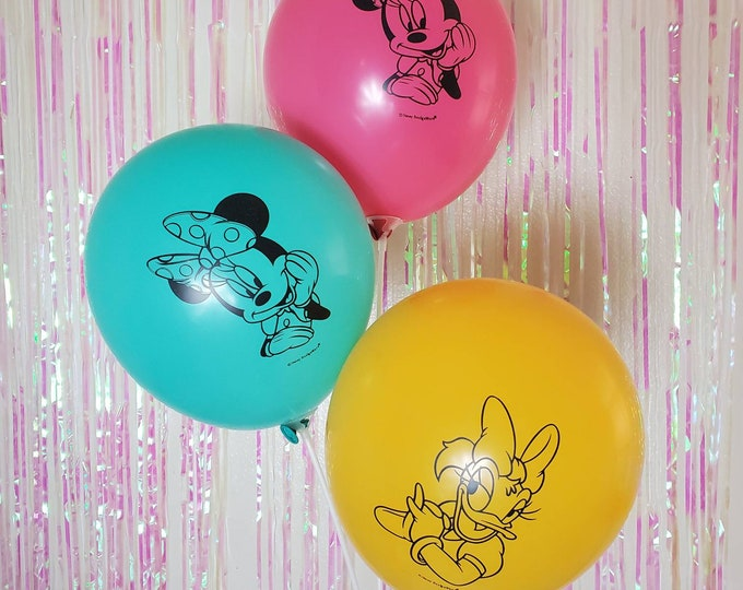 6 pc Minnie Mouse and Daisy Duck Assorted Balloons