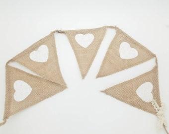 Burlap Pennant Banner, Wedding Decor, Decoraciones para Boda, Banderas de decoraciones, Burlap Decor