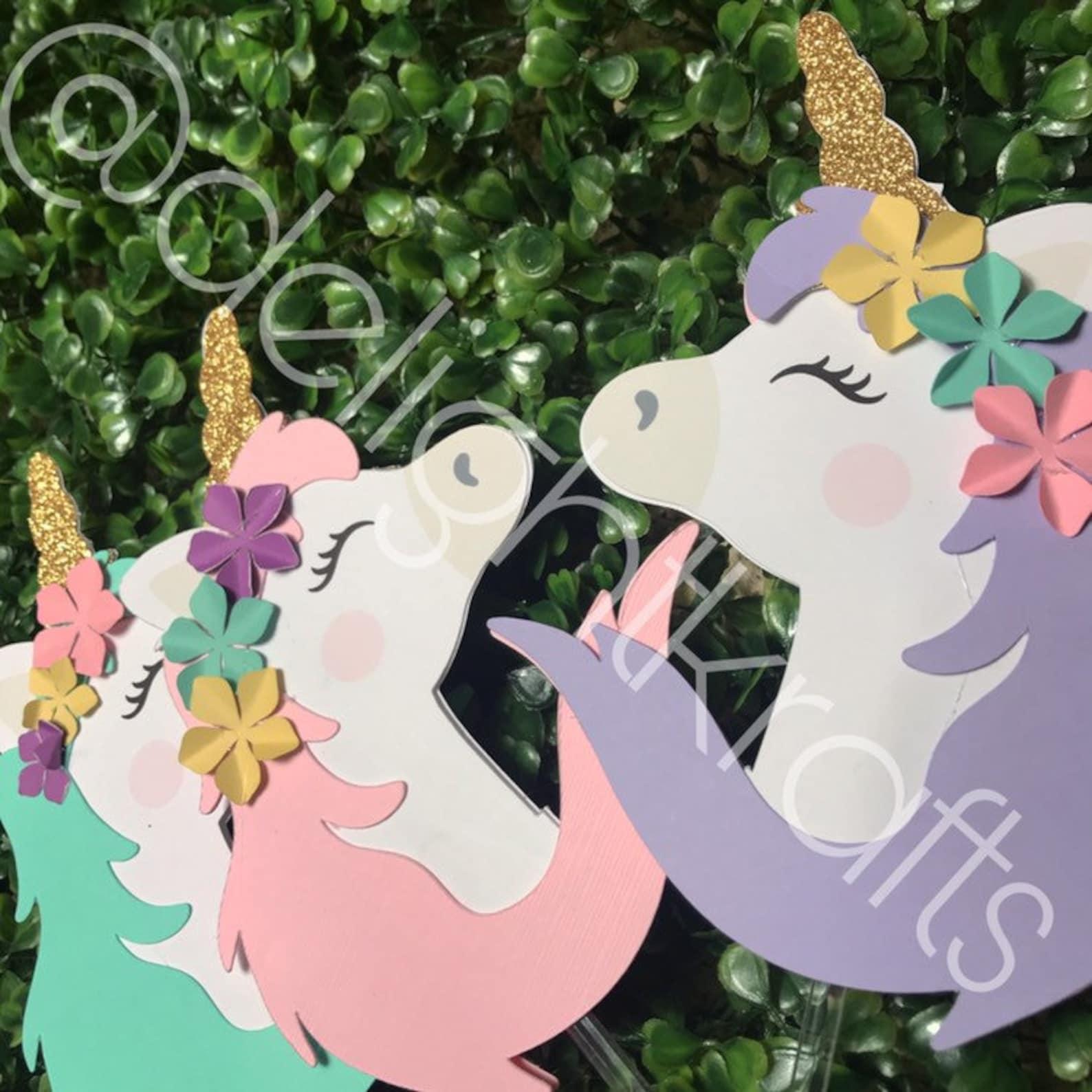 Unicorn Centerpiece Sticks Page Three