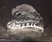America Bald Eagle Flag s...