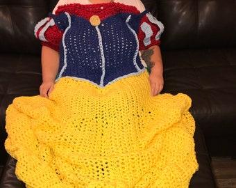 Princess Dress Blanket - Snow White Inspired - FREE SHIPPING