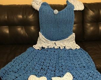 Princess Dress Blanket - Cinderella Princess Inspired - FREE SHIPPING