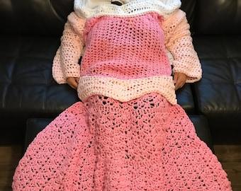 Princess Dress Blanket - Sleeping Beauty Aurora Inspired - FREE SHIPPING