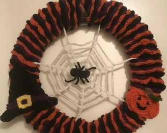 Halloween Wreath for Front Door Halloween Decor - FREE SHIPPING