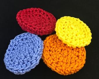 Nylon Round Crochet Scrubbies Dish and Pot Scrubber Scrubbie