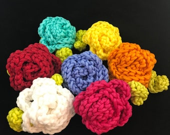 Nylon Crochet Rose Dish Scrubbies and Pot Scrubber Scrubbie Set of 6