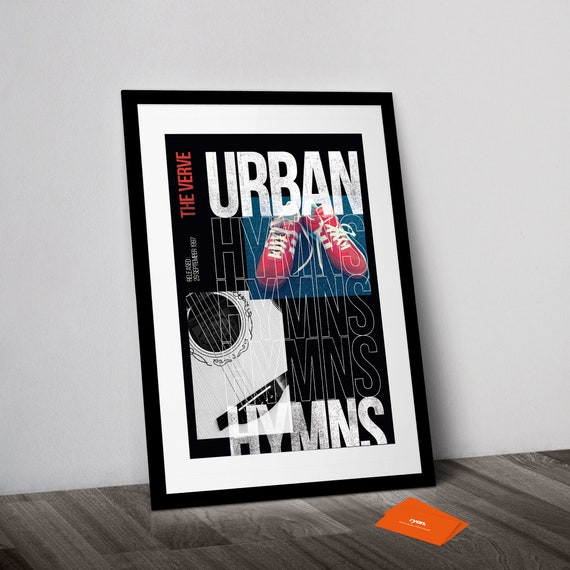 Urban Hymns Album Print Lyrics Gift Framed Original Art The Verve Poster