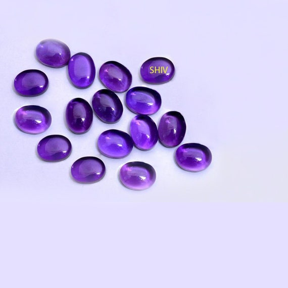 5x8 mm Pear Amethyst Cabochon Loose Gemstone Wholesale Lot 30 pcs