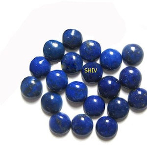9X9MM Lapis Lazuli Round cabochon  100/%Natural AAA Quality lapis lazuli round cabochon flat back Loose gemstone