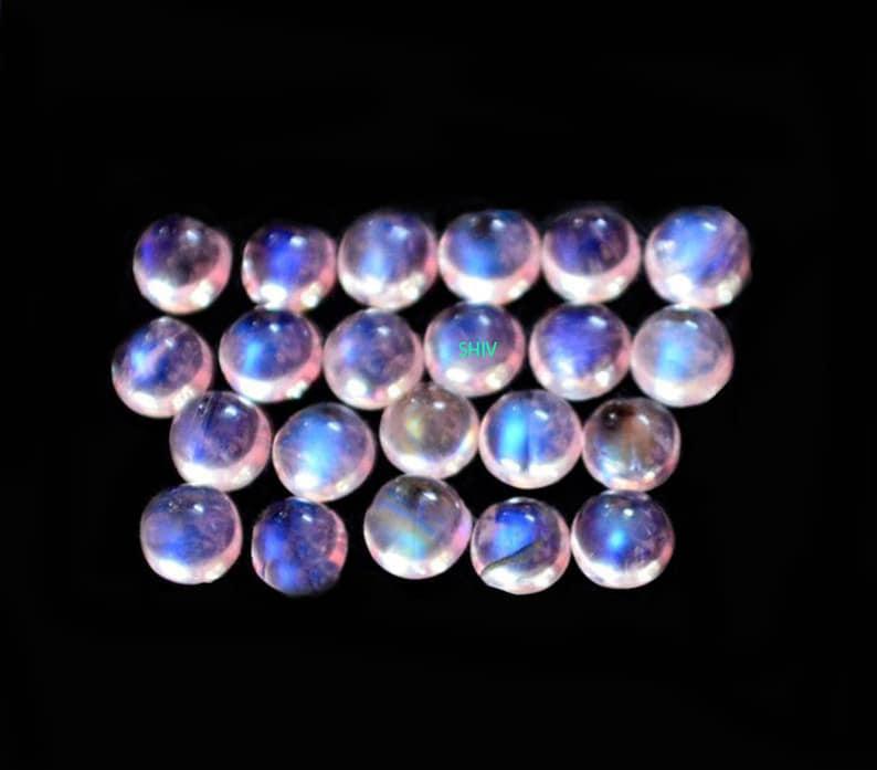 6X6 MM AAA Rainbow Moonstone Round cabochon Blue flash Top Grade 100/% Natural Rainbow Moonstone Round cabochon  Blue flash loose gemstone