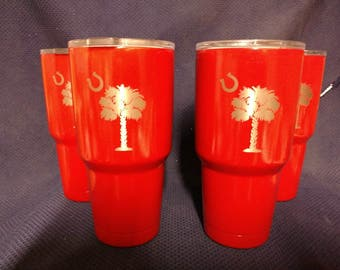 Palmetto Tree Cups with Horseshoe Moon
