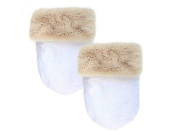 Cream Fur Pocket Cozy